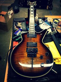Dean Guitars Tom Maxwell Cadillac with a Floyd Rose trem