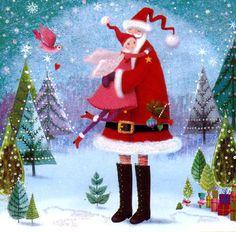 Quadratische Weihnachtskarte von Mila Marquis von MarquisWonderland