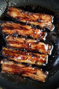 Red Wine Caramelized Pork Belly