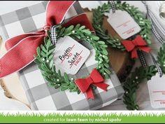 Nichol Spohr LLC: 25 Days of Christmas Tags   Lawn Fawn Wreath Tags