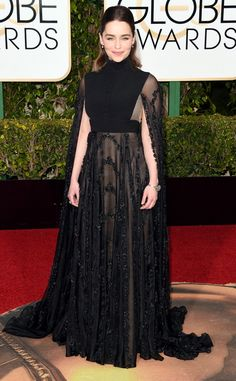 Emilia Clarke from 2016 Golden Globes Red Carpet Arrivals. Had so much potential but such an epic flop.