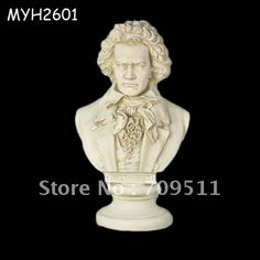 Free Shipping  Wholesale  Resin Beethoven musician composer sculpture bust For home/store decoration-in Crafts from Home & Garden on Aliexpress.com