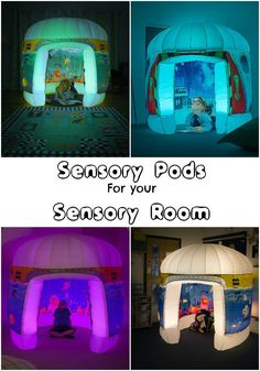 Sensory pods for your sensory room. These would make a great calm down area for kids great for autism (asd) or even as a reading nook The post Pods Play Sensory Play Environments appeared first on Children's Room. Sensory Rooms, Sensory Bins, Sensory Play Autism, Sensory Table, Sensory Issues, Kindergarten, Autism Classroom, Classroom Reading Nook, Autism Apps