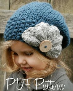 Knitting PATTERN-The Ruby Slouchy (Toddler, Child, Adult sizes)  So excited to see the pattern is for kids AND adults!