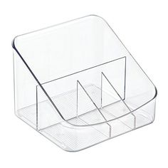 InterDesign Linus Coffee Supply Organizer for Filters Beans Sugar Creamer Tea Bags  Clear -- You can get additional details at the image link.