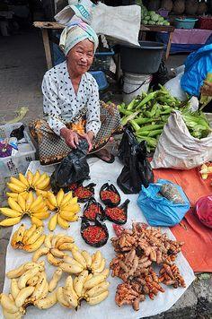 Street market . Tuaran Sabah Malaysia