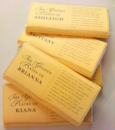 Golden Plates Chocolate Bar Wrappers