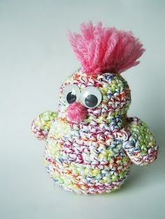 Punk Chicken!  Makes me want to learn how to crochet!