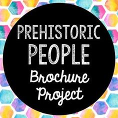 Prehistoric People Research Brochure Project. Perfect if you need to cover this time period, but need a condensed lesson unit! INCLUDES AN INTERACTIVE NOTEBOOK POCKET, BUT CAN BE A STAND-ALONE PROJECT AS WELL!