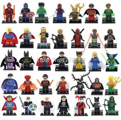 Marvel,dc,super hero mini #figures batman,iron #man,spiderman,joker & lego #weapo, View more on the LINK: http://www.zeppy.io/product/gb/2/232181890146/