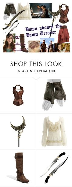 """""""Dawn aboard the Dawn Treader"""" by alessa-auditore ❤ liked on Polyvore featuring Imoni, Monsoon and Pikolinos"""