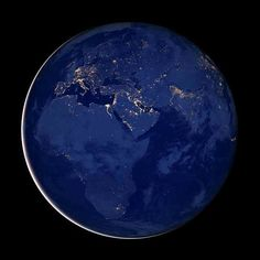 Night Lights of Earth Satellite Orbital View by EclecticForest