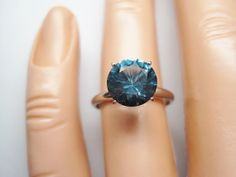 Vintage Blue Topaz Engagement Ring  Size 5  by BejeweledEmporium, $120.00