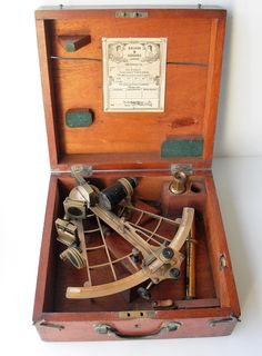 Lot 164 - A Hezzanith` sextant by Heath & Co, New Eltham, London SE9, in mahogany case; vintage Chicago