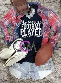 My Favorite Football Player Calls Me Mom T-shirt, Football Mom Shirts, Football Mama Shirt, Women's Football Game day Shirt, Women's Football T-Shirt Sports Mom Shirts, Football Mom Shirts, Football Stuff, Football Mums, Football Players, Football Season, Mama Shirt, T Shirt, Game Day Shirts