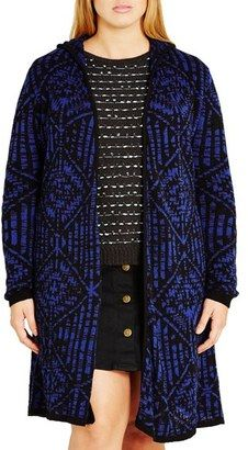 Shop Now - >  https://api.shopstyle.com/action/apiVisitRetailer?id=539269834&pid=uid6996-25233114-59 Plus Size Women's City Chic Geo Pattern Hooded Cardigan  ...