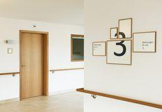 Retirement Facility Hottingen - Signage by Tina Stäheli - Shinohara, via Behance