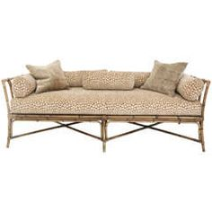 Vintage Bamboo Daybed Sofa