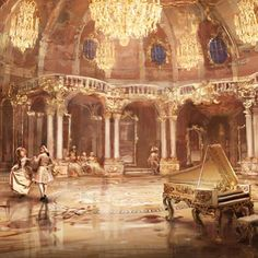 Absolutely gorgeous concept art from Karl Simon (http://conceptartworld.com/news/beauty-and-the-beast-concept-art-by-karl-simon/) #beautyandthebeast #beautyandthebeast2017 #beautyandthebeastliveaction #karlsimon #conceptart #belle #beast #prince #castle #roccoco #fairytale #magic