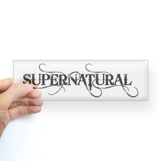 Supernatural bumper sticker for my new car...yes plz!