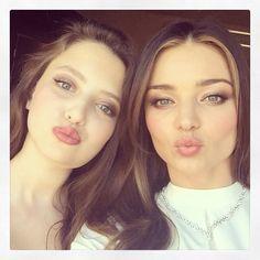 Kisses from beauties Miranda Kerr