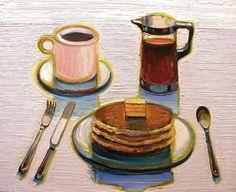 Wayne Thiebaud, Pancake Breakfast, 2008 - also need this is bed rn plz.
