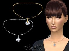 NataliS_Round crystal pendant necklace