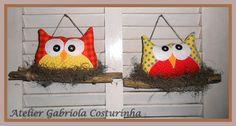 ♥♥ coruja no Balanço ♥♥ | by Gabriola Costurinha