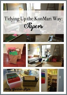 Tidying Up the KonMari Way Papers - is your paper clutter getting out of control? Read about how I used the KonMari method to sort, purge, and organize my papers.
