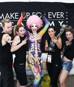 MAKE UP FOR EVER Academy students have been for four consecutive years now World Body Painting Champions. W-O-W @MAKE UP FOR EVER OFFICIAL