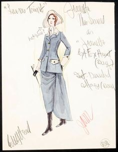 Edith Head sketch for Jeanette McDonald in Love Me Tonight (1932)