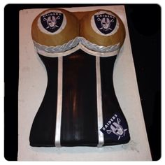 Raiders cake. A friend made this for my husbands 30th. It turned out awesome!