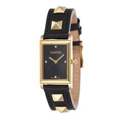 Valentino Rockstud Watch in Gold & Black (=)