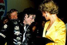 """July 16, 1988: Princess Diana and Michael Jackson. Michael and Diana met just one time, backstage after his London concert during his """"Bad"""" tour. Michael told reporters he was """"very excited"""" to meet the beloved royal. After their meeting, Jackson and the princess instantly bonded. """"Michael would spend thousands of dollars on phone bills to Princess Di. They would talk about feeling hunted and trapped by the paparazzi,"""" a rep from People magazine tells """"Extra."""""""