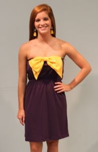 purple and gold dress gameday #LSU