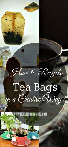 These helpful reuse applications show that tea bags are useful after the mug is emptied...