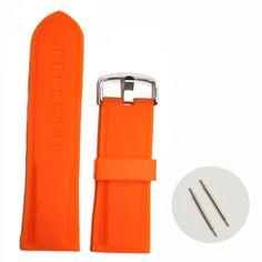 28мм неон оранжевый силиконовый Желе резиновые унисекс часы группы ремни WB1054H28JB
