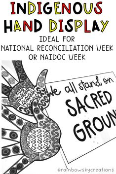 Our Indigenous Hands display is a perfect tribute for NAIDOC Week and/or National Reconciliation Week pack. Provide each student with a hand to design and decorate to be part of a collaborative art piece. The aim of the display is to acknowledge the history and traditions of the Aboriginal and Torre Strait islanders. #rainbowskycreations Primary Classroom, Primary School, Naidoc Week, Teaching Resources, Teaching Ideas, Unit Plan, Australian Curriculum, Collaborative Art, Social Science