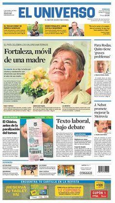 Portada de #DiarioELUNIVERSO de este domingo 11 de mayo del 2014. Las #noticias de #Ecuador y el mundo en: www.eluniverso.com