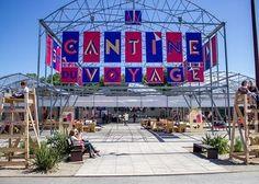 La Cantine du Voyage l'été à Nantes, en bord de Loire