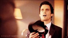 """When he was so suave that you actually died. 17 Times Neal Caffrey From """"White Collar"""" Made You Weak At The Knees White Collar Neal, White Collar Quotes, Matt Bomer White Collar, Matt Bomer Family, Matt Bomer Husband, Bachelor Fantasy League, Neal Caffery, Bright Pink Dresses, People Running"""