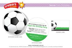 SOCCER Party  INVITATION Printable by crackersart on Etsy, $20.00