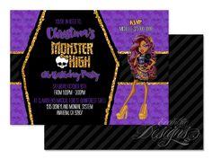 Monster High - Clawdeen Wolf Digital Birthday Party Invitation / Child Party Ideas / Children Party Themes / Children Invites / Children Invitations / Kid Party Ideas / Kid Invitations / Halloween