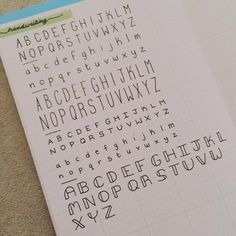 Ending the night with some alpha-drills. This is also for some of you who have requested to see more of the handwriting I use in my bujo 😘… Bullet Journal Titles, Journal Fonts, Bullet Journal Notebook, Bullet Journal Aesthetic, Journaling, Bullet Journal Number Fonts, Handwriting Examples, Nice Handwriting, Bellet Journal