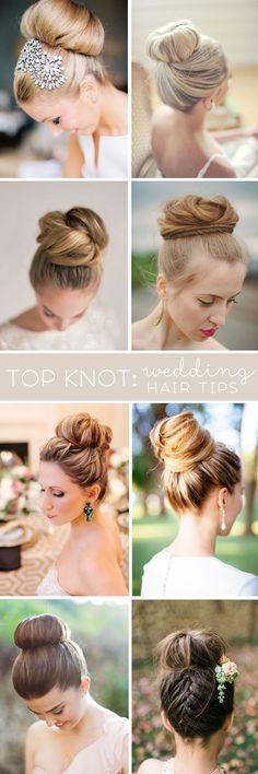 Top Knot - Wedding Hair Tips