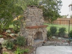rustic fireplace | Rustic Stone Outdoor Fireplace Designs Landscape Garden Backyard ...
