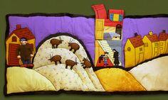 """raconte-tapis créé d'après """"L'ogre Babborco"""" de Bloch et Prigent / Didier Jeunesse Animation, Bowser, Textiles, Quilts, Expositions, Fictional Characters, Play Mats, Album, Europe"""
