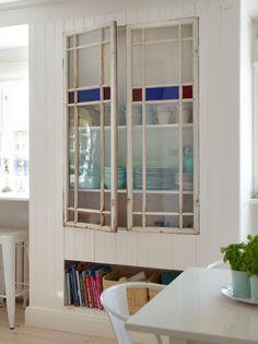 repurposed leaded light windows
