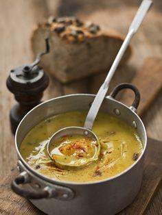 ideal la sopa de calabaza Pumpkin and Leak Soup Pumpkin Soup, Pumpkin Recipes, Canned Pumpkin, Vegetarian Recipes, Snack Recipes, Healthy Recipes, Potato And Leak Soup, Leek Soup, Antipasto