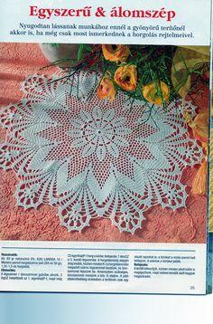 Lotus crochet doily image
